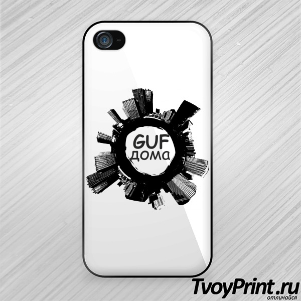 Чехол iPhone 4S GUF дома