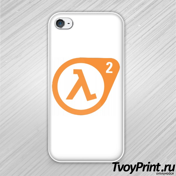 Чехол iPhone 4S Half Life 2 logo