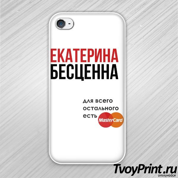 Чехол iPhone 4S Девушка бесценна для всего остального есть MasterCard