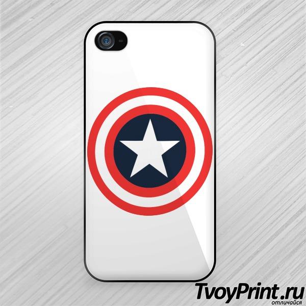 Чехол iPhone 4S Щит Капитана Америка