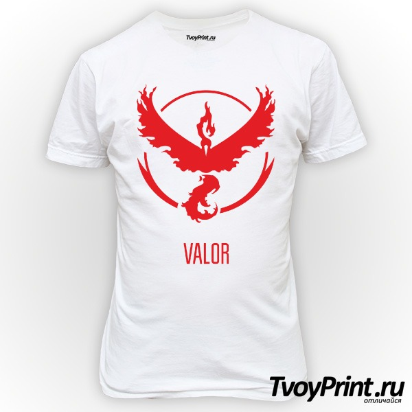 Футболка Red Team Valor Pokemon Go Красная команда