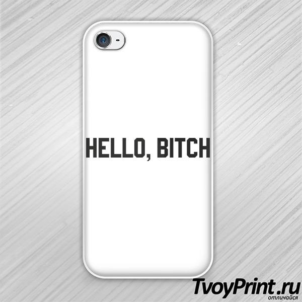 Чехол iPhone 4S hello bitch