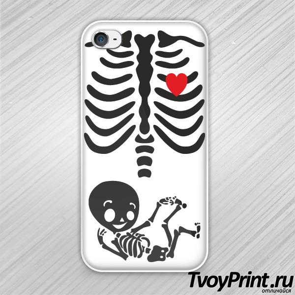 Чехол iPhone 4S Скелет