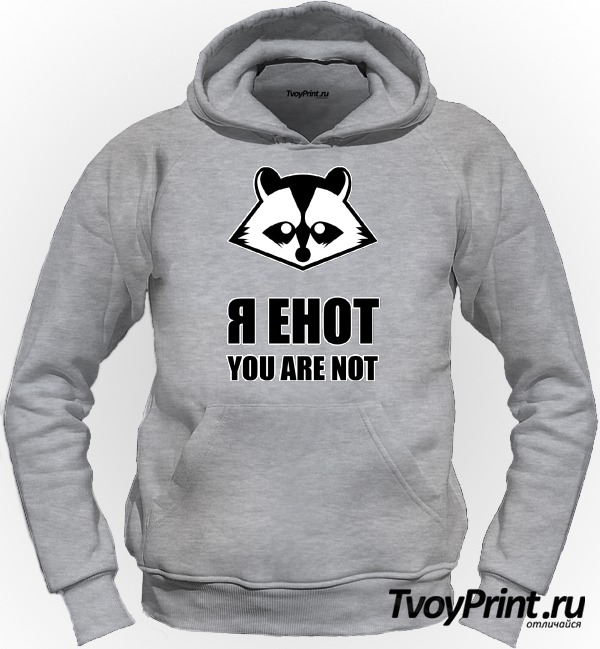 Толстовка я енот, you are not