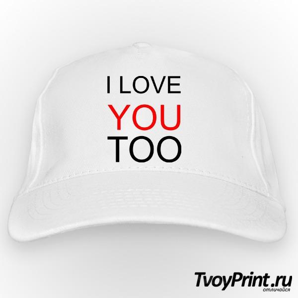 Бейсболка I love you