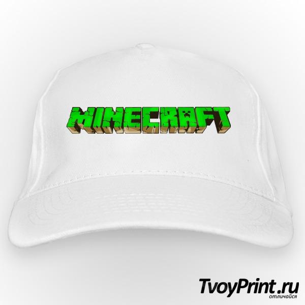 Бейсболка Майнкрафт Логотип Зеленый