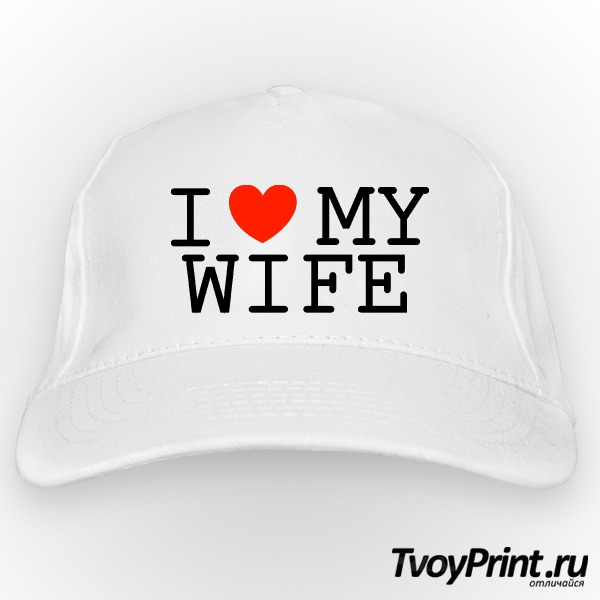 Бейсболка I love my wife