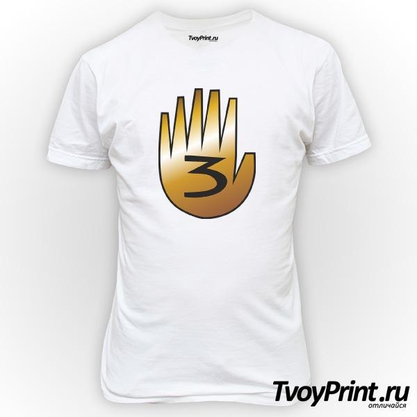 Футболка шестипалая рука Гравити фолз
