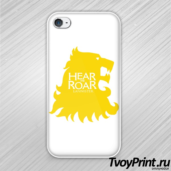 Чехол iPhone 4S Игра престолов (Услышь мой рёв)