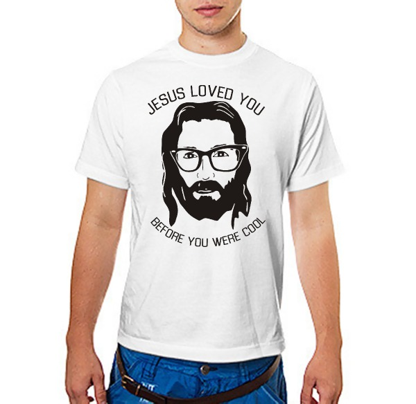 Футболка Иисус любил тебя до того, как ты стал клевым