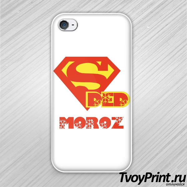Чехол iPhone 4S Super Ded Moroz