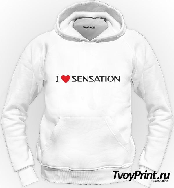 Толстовка Я люблю Sensation