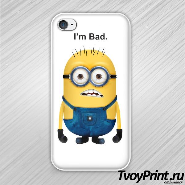 Чехол iPhone 4S Миньон (I am Bad)