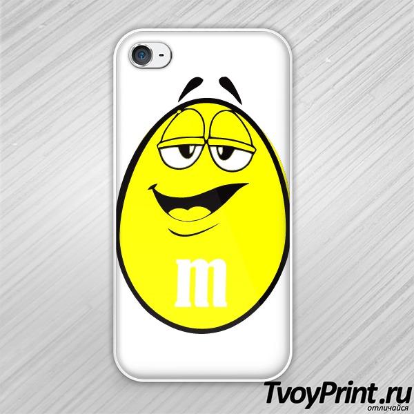 Чехол iPhone 4S m&m мужская