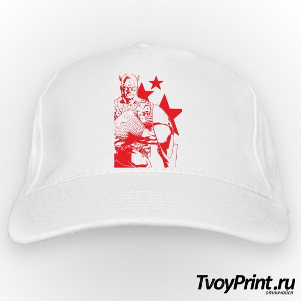 Бейсболка Капитан Америка (красный)