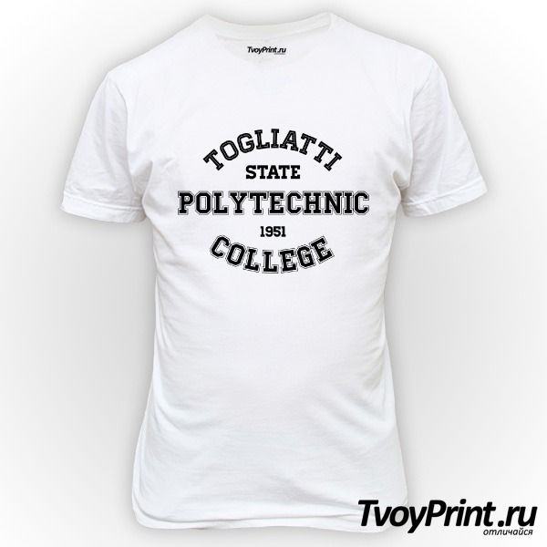 Футболка колледжей Тольятти :ТПК