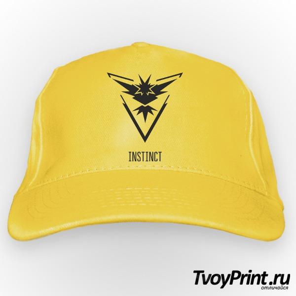 Бейсболка Yellow Team Instinct Pokemon Go Желтая команда