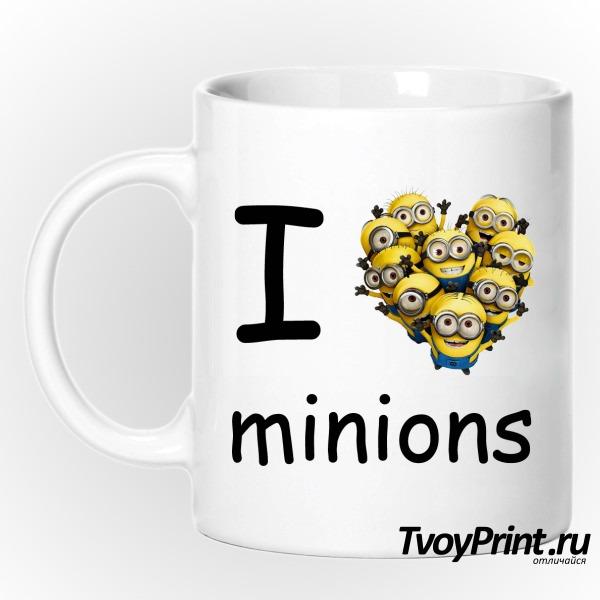 Кружка I love minion (миньон)