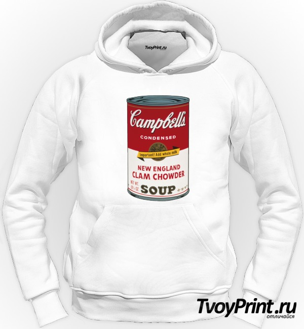 Толстовка Andy Warhol campbell soup