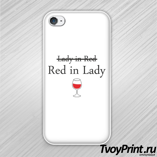 Чехол iPhone 4S Lady in red