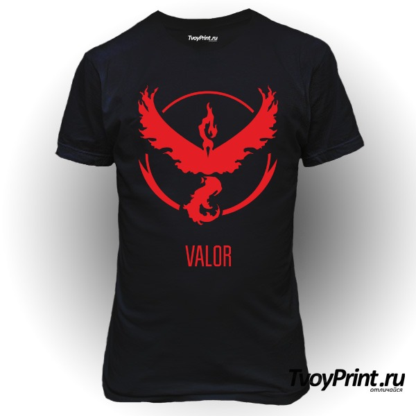 Футболка Red Team Valor Pokemon Go Красная команда