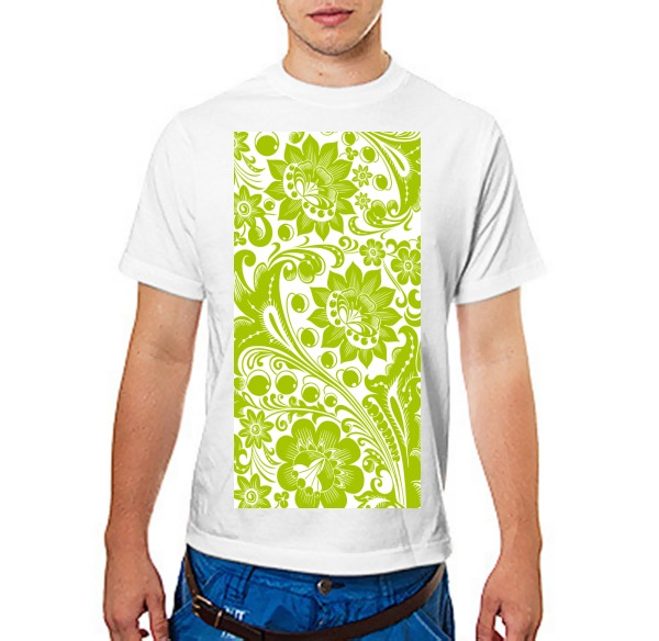 Футболка Хохлома white-green
