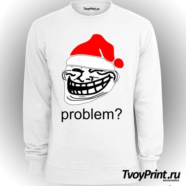 Свитшот новогодний Trollface