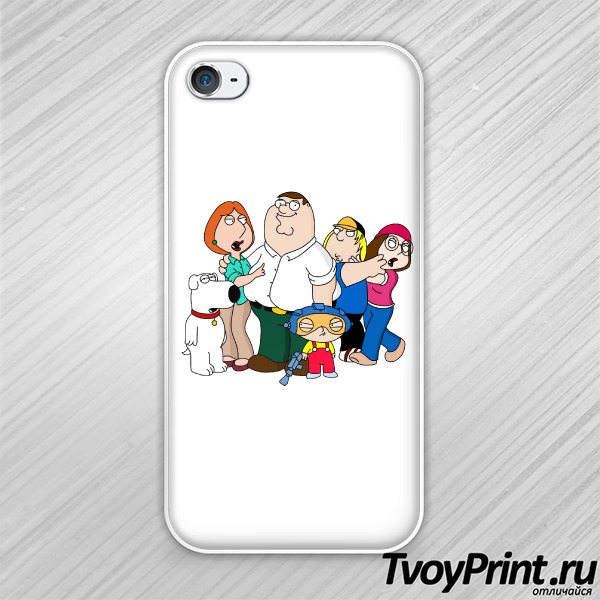 Чехол iPhone 4S Гриффины (Family Guy)