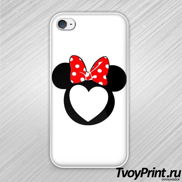 Чехол iPhone 4S Минни