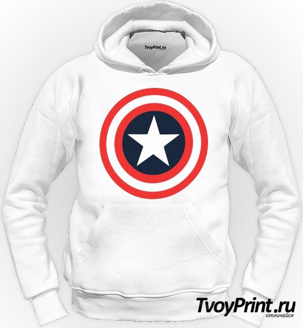 Толстовка Щит Капитана Америка