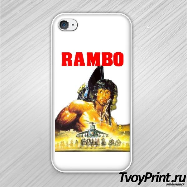 Чехол iPhone 4S Рэмбо (Rambo)