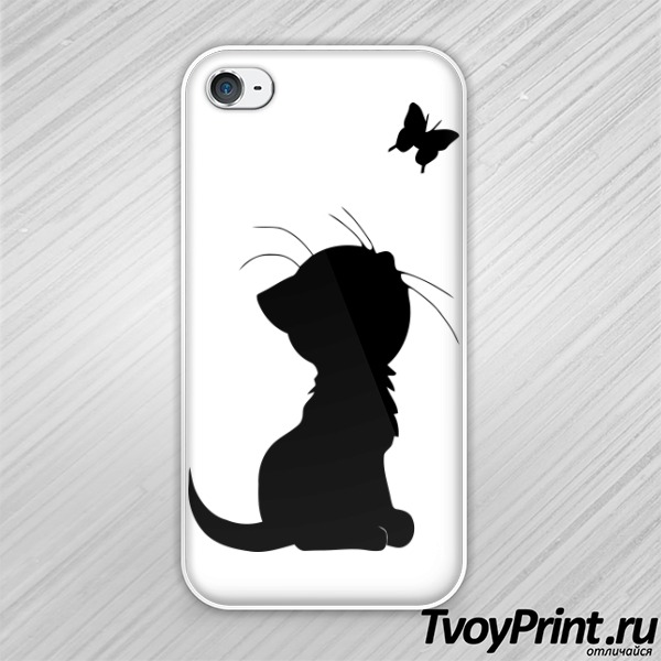 Чехол iPhone 4S Котенок