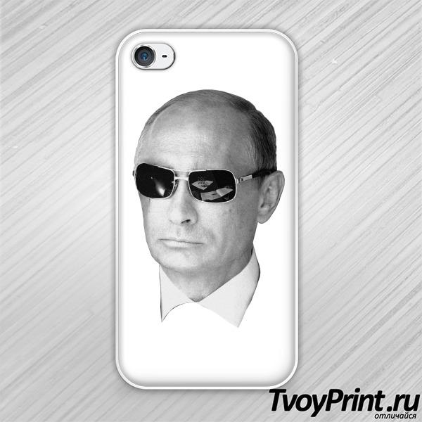 Чехол iPhone 4S Путин в очках