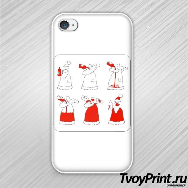 Чехол iPhone 4S Как стать Дедом Морозом