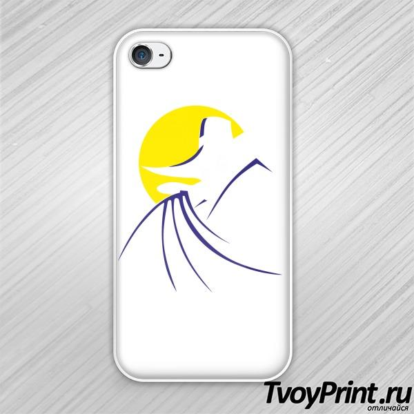 Чехол iPhone 4S черный плащ