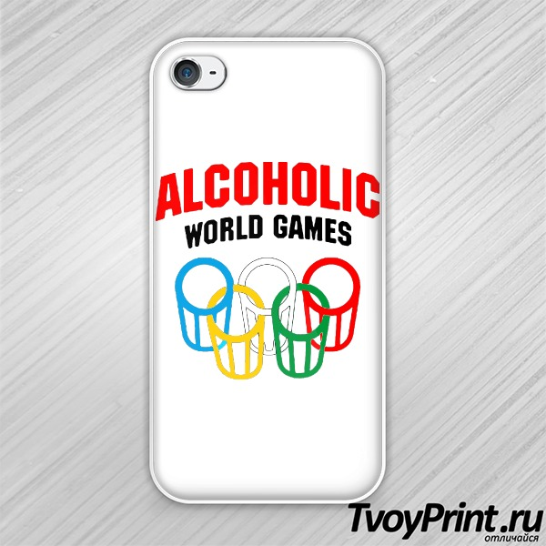 Чехол iPhone 4S Алкоголик
