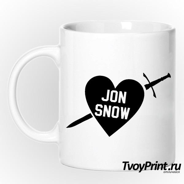 Кружка I love jon snow
