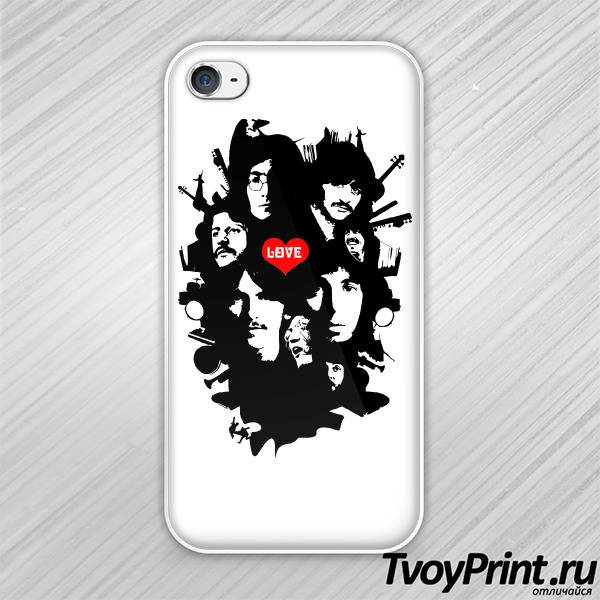 Чехол iPhone 4S The Beatles