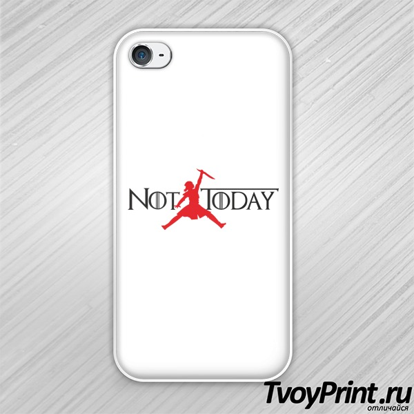 Чехол iPhone 4S Арья Старк (not today)