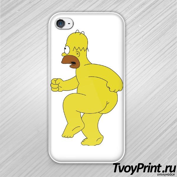 Чехол iPhone 4S Гомер
