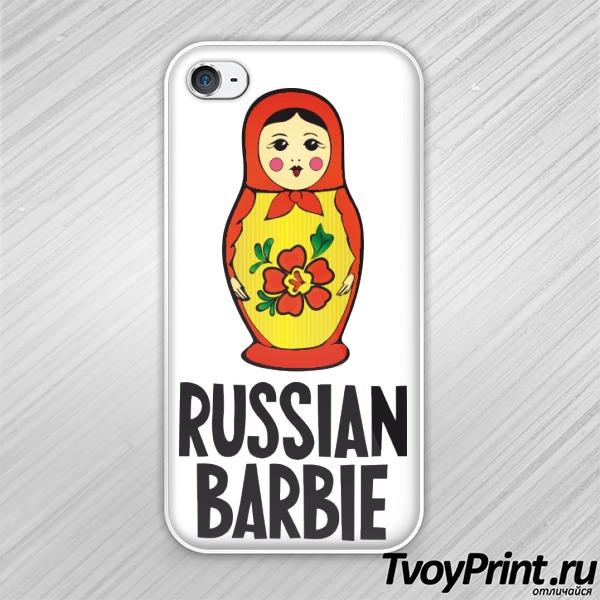 Чехол iPhone 4S Russian barbi