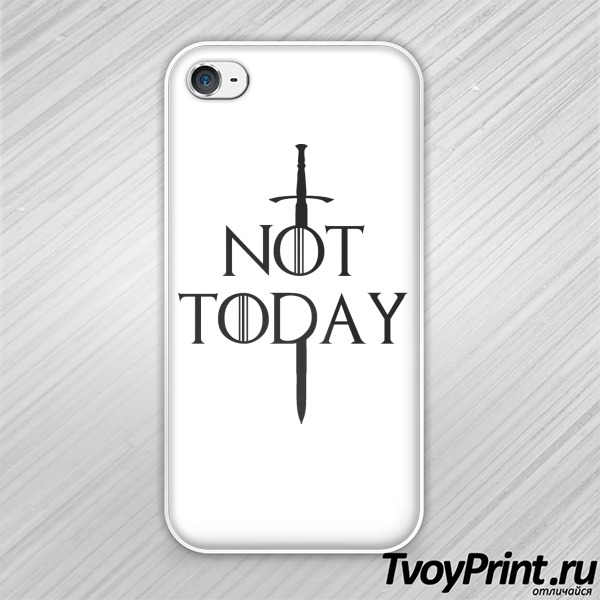 Чехол iPhone 4S not today