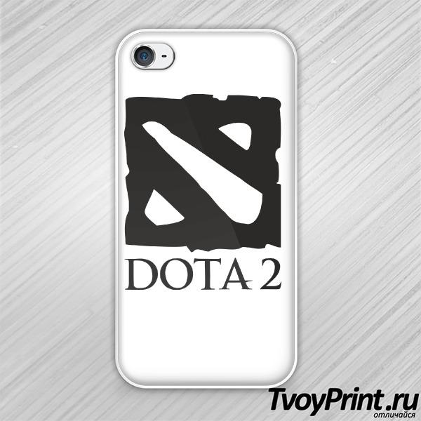 Чехол iPhone 4S Dota 2  лого