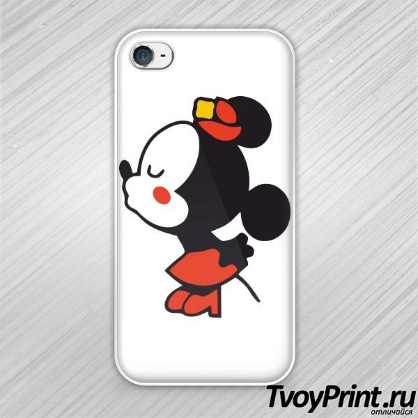 Чехол iPhone 4S Влюбленные мышата правая часть
