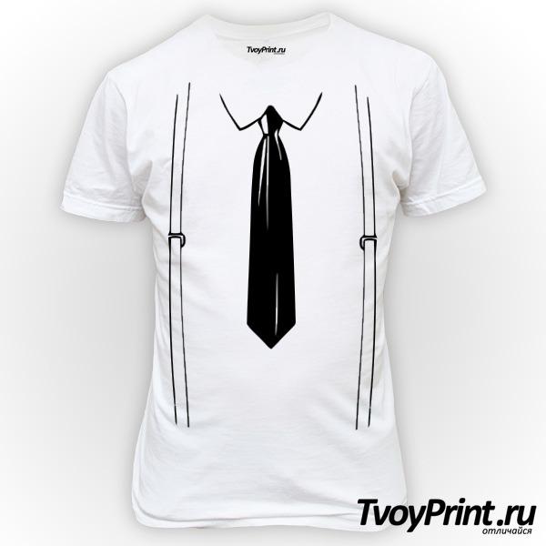 Футболка подтяжки и галстук