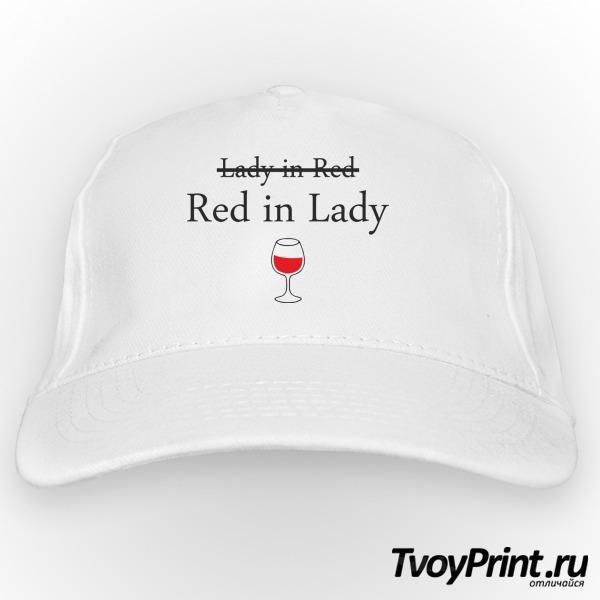 Бейсболка Lady in red