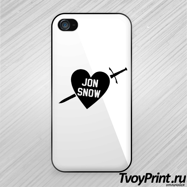 Чехол iPhone 4S I love jon snow