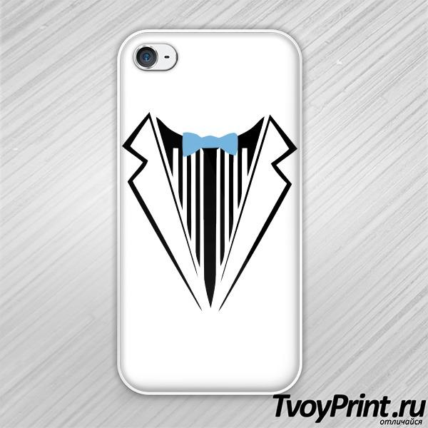 Чехол iPhone 4S смокинг