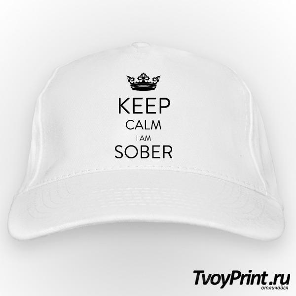 Бейсболка Keep calm Im sober