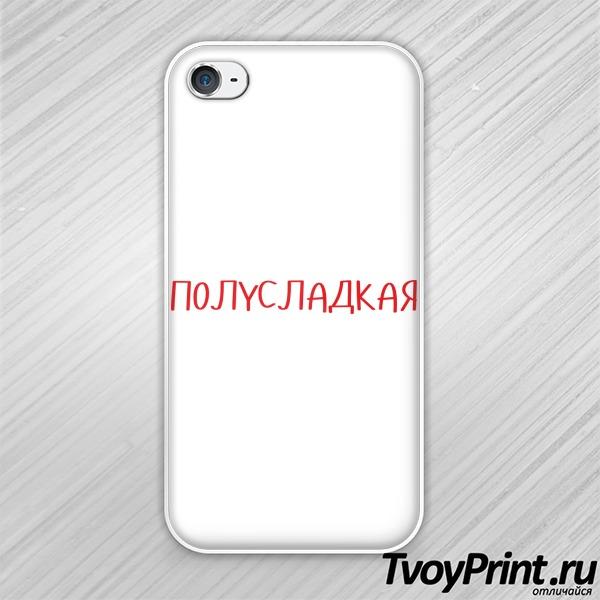 Чехол iPhone 4S Полусладкая